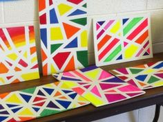 We did this at an art camp that I've been apart of for years and the kids absolutely loved it and it gave them their own special art piece that made them feel like true artists. It's great for motor skills for kids as well as teaching math concepts of fractions and lines. 3370