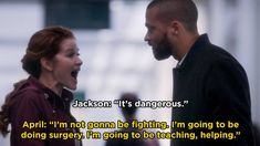 """Here Are 21 Times April Kepner Was Literally A """"Grey's Anatomy"""" Superhero Jackson And April, Jackson Avery, Greys Anatomy April, Greys Anatomy Memes, April Kepner, My Superhero, Movie Mistakes, Monologues, 50 Shades Of Grey"""