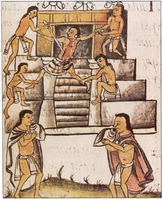 What is Aztec Sacrifice? Aztec was an ethic group of people who resided in Mexico for several centuries starting from 14th century. They dominated major regions of Mesoamerica for several centuries. One f the common custom practiced by Aztec people was human sacrifice to their gods.