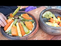 Moroccan Couscous with Veggie and Beef Recipe Moroccan Couscous, Country Cooking, Beef Recipes, Cantaloupe, Veggies, Fruit, Youtube, Om, Vegetables