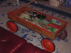 coffee table wagon (perfect for my mom's old wagon)