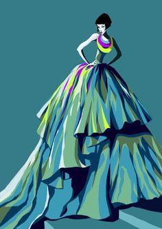 Fashion illustrations by Magali Barbe, via Behance