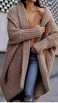 19 Cheap Knit Cardigan Outfit You Must Try These list of List . - Cheap Knit Cardigan Outfit You Must Try These list of List features some of my f. Knit Cardigan Outfit, Batwing Cardigan, Drape Cardigan, Cardigan Pattern, Cardigan Fashion, Crochet Cardigan, Long Sleeve Sweater, Oversized Cardigan Outfit, Chunky Knit Cardigan