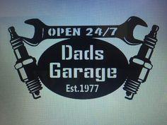 Les papas garage signe avec date qu'il est devenu par CFabMetalWorx
