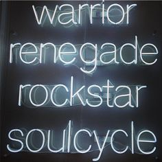"""Sara L., Fall 2016, Section 1. The luxury spin studio SoulCycle has developed a lifestyle brand based on strength, confidence, and teamwork. Associating the terms, """"warrior"""" and """"rockstar"""" with SoulCycle encourages people to join and become stronger and better. In addition, the bright, bold words are concrete and sticky. Link: https://www.instagram.com/p/l3CfSoH52X/?taken-by=soulcycle"""