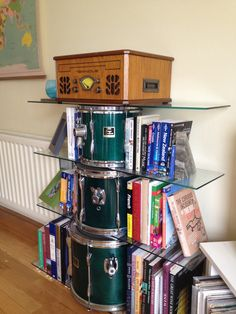 1000 images about homemade instruments on pinterest for Repurposed drum shelf