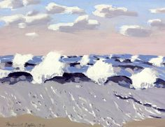 Fairfield Porter (1907-1975) Surf on Windy Day