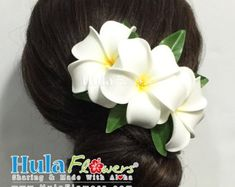 Hawaii Plumeria Flowers Hair Clip For Hawaiian Wedding, Beach Party Hair Accessories, CM1-21