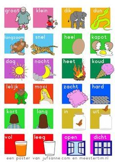 Begrippenlijst Visual Learning, Kids Learning Activities, Fun Learning, Dutch Phrases, Dutch Words, Learn Dutch, Preschool Prep, Dutch Language, Starter Set
