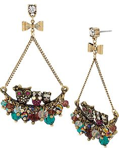 ENCHANTED OWL CHERRY EARRING MULTI accessories jewelry earrings fashion
