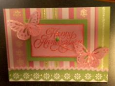 Here is a card a co-worker of mine made.... Us girls here take turns bringing in a handmade card and supplies to make it... and each of us takes turns makin it... we all have a nice collection now :)