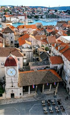 The Clock Tower of the medieval town center of Trogir, Dalmatia, Croatia   by Sandra Lipproß