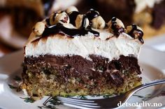 Norwegian Food, Pudding Desserts, Something Sweet, Let Them Eat Cake, Cake Cookies, Chocolate Cake, Cake Recipes, Food And Drink, Sweets