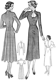 Past Patterns: Cocktail Ensemble: Circa Mccalls Patterns, Dress Sewing Patterns, Vintage Sewing Patterns, Sewing Ideas, Sewing Projects, 1930s Fashion, Fashion 101, Retro Fashion, Vintage Fashion