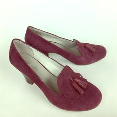 "Hush Puppies Purple Suede Heels Worn once! In excellent condition. So cute and comfortable! Great for work! 3"" heel. Hush Puppies Shoes Heels"