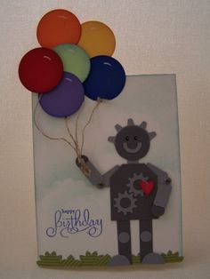 Stampin' Up!  Tag Punch  Tiffany Day  Robot