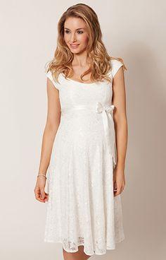 Eliza Maternity Wedding Dress Short (Ivory) by Tiffany Rose