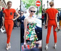 #PFW #Couture Elena Perminova aux defiles Christian Dior et Giambattista Valli