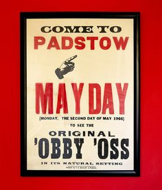 Padstow | Obby Oss | 1966 by fraser donachie, via Flickr Truro Cornwall, St Just, May Days, Winter Festival, Twelfth Night, Retro Posters, Hobby Horse, Epic Art, Folk Dance