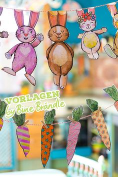 Bines Shop - Shop for templates for windows etc. from Bine Brändle Easter Art, Bunny Crafts, Hoppy Easter, Easter Crafts For Kids, Summer Crafts, Easter Bunny, Diy And Crafts, Paper Crafts, Kids Homework