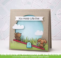 Lawn Fawn Let's Play card by Cristina Yainea Nuñez