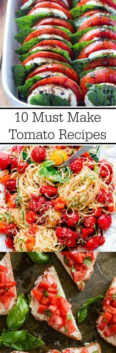 10 Must Make Tomato Recipes Collage