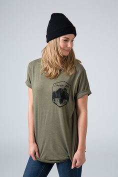 The Anderson Tee is our favourite for versatility, layering and comfort. Perfect for any occasion. Aw 17, Heather Green, Soft Hands, Layering, Organic Cotton, Public, T Shirts For Women, Unisex, Tees