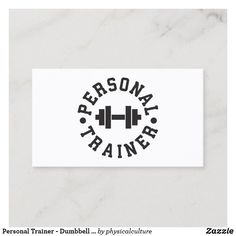 Shop Personal Trainer - Dumbbell Logo - Custom Business Card created by physicalculture. Personal Trainer Humor, Personal Fitness, Personal Logo, Custom Business Cards, Business Card Design, Business Names, Fitness Logo, Fitness Gear, Fitness Diet