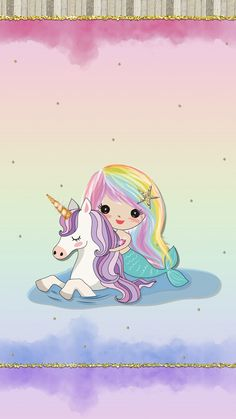 Mermaid and unicorn Unicorn Drawing, Unicorn Art, Magical Unicorn, Cute Unicorn, Unicorn Poster, Baby Unicorn, Mermaid Wallpapers, Cute Wallpapers, Wallpaper Backgrounds