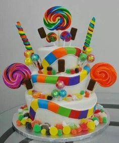 Candy land cake via stylish eve
