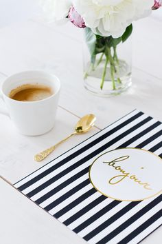 stripes and coffee