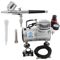 HJLWST OPHIR 110V,220V Dual Action Airbrush Compressor Kit for Airbrushing Tattoo Hobby Cake Decoration , 220v >>> To view further for this item, visit the image link.