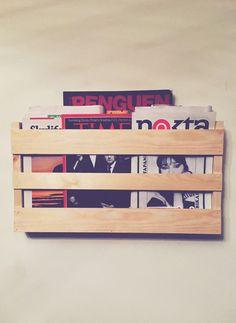 Magazine Rack / Stand Wall design, news rack, newspaper rack, wood