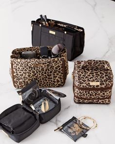d9a1fee9131 Handbag Organizers  amp  Jewelry Cases Black with Leopard Handbag  Organization