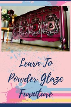 Powder Glaze is not the type of product you will find it at your local Lowe's or Home Depot. It is an industrial product, designed and marketed to Professional Woodfinishers. Read more and watch the Video. By Amy Murry #painting #paintedfurniture #furnitur Neon Signs, Diy, Old Furniture, Living Room Furniture, Build Your Own, Bricolage, Do It Yourself, Diys