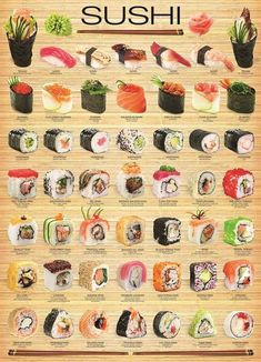 """I chose Eurographics amo """"sushi"""" cartaz, Poster to represent Triadic Colors. Since Sushi is one of my favorite artistic treats. L'art Du Sushi, Sushi Food, Healthy Sushi, Sushi Dishes, Sushi Cake, Vegan Sushi, Dinner Healthy, Cuisine Diverse, Asian Recipes"""