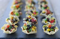 Cowboy Caviar cups - I added my own twist (no dressing, add lime juice and olive oil instead) but it was a huge hit at our Super Bowl party.
