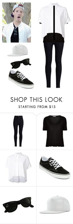 """""""Josh Dun gender bend"""" by xxghostlygracexx ❤ liked on Polyvore featuring Rodarte, T By Alexander Wang, Alice + Olivia, Vans and Ray-Ban"""