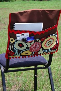 video sewing tutorial for chair organizer | Great sewing tutorial for making chair bags for the classroom. by ...