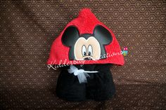 Boy Mouse hooded towel for children - pinned by pin4etsy.com