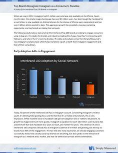 Instagram Brand Adoption Study - August 2012 - By Simply Measured #instagram