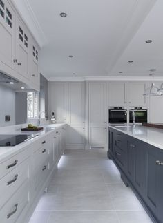 The transformation of an outdated kitchen, to a classic custom crafted creation by Doran Kitchens & Home, Newry. Kitchen Styling, Kitchen Decor, Kitchen Ideas, Contemporary Classic, Island Lighting, Wow Products, Classic Style, Kitchen Cabinets, New Homes