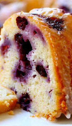 Blueberry Lemon Pound Cake