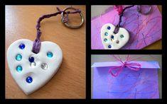 Porte-clés ou grigri pour maman... coeur pâte durcissante peinture