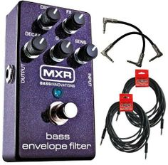 MXR M82 Bass Guitar Envelope Filter Pedal w/4 FREE Cables by MXR. $135.00. Separate Dry and Effect controls let you dial in the perfect mix of effected and direct signals, so you can bring the funk without losing the low end. It's wide range of filter tones can be shaped with the Decay and Q controls, and a simple twist of the Sensitivity knob can tailor the pedal for your attack-as well as adjust for passive or active basses.  The Bass Envelope Filter's power supply cir...