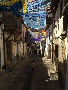 Parasoles artesanales en Valverde de la Vera 2014