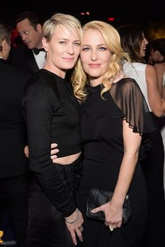 Robin Wright&Gillian Anderson - these two could rule the world!