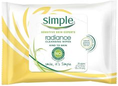 Simple Radiance Facial Cleansing Wipes are a blend of gentle cleansers and mango extract perfect for cleansing and removing impurities for naturally healthy looking skin. Facial wipes from Simple are