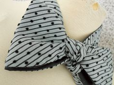 """Grey Stripe and Dot Bowtie by HandsomeAndLace 