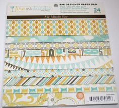 Such beautiful paper! ~ My Minds Eye 6x6 Paper Pad Baby Boy by ChicScrapbooking on Etsy, $5.50